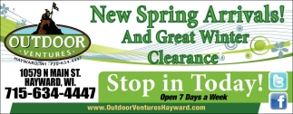 Spring Arrivals and Winter Clearance