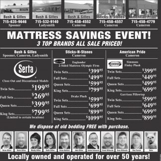 Mattress Savings Event
