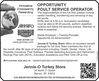 Opportunity Pult Service Operator