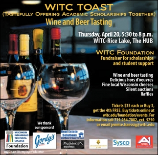 9th Annual WITC Toast