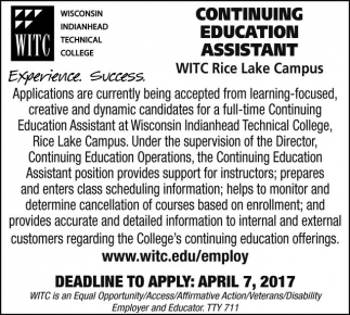 Continuing Education Assistant
