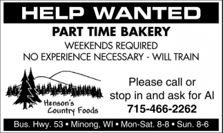 Part Time Bakery