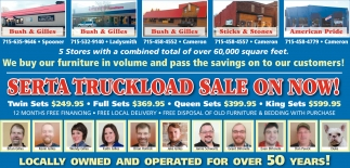Serta Truckload Sale on Now!