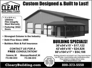 Custom Designed & Built to Last!