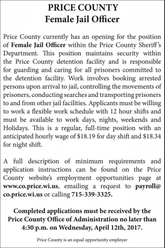 Female Jail Officer