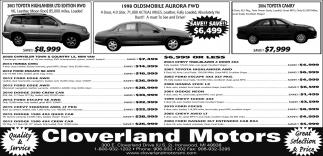 Toyota Highlander, Oldsmobile Aurora, Toyota Camry
