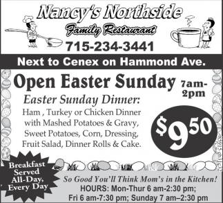 Open Easter Sunday Nancy 39 S Northside Family Restaurant