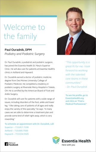 Paul Ouradnik, DPM, Podiatry and Podiatric Surgery