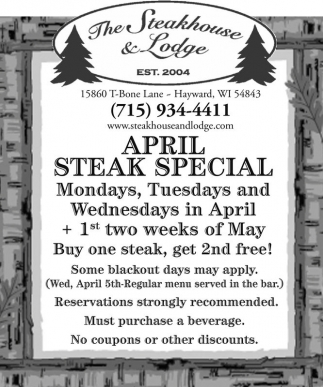 April Steak Special
