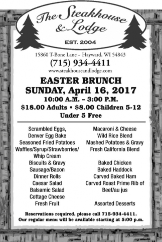 Easter Brunch Sunday