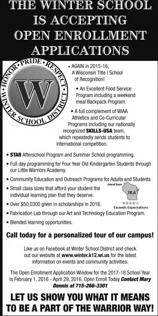Open Enrollment Applications