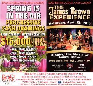 Spring Is In The Air, Progressive Cash Drawings $15,000 total giveaway