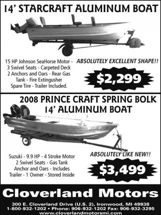 14' Starcraft Aluminum Boat