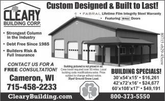 Building Specials!