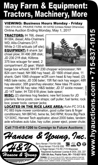 May Farm & Equipment