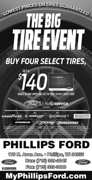 big tire event phillips ford phillips wi
