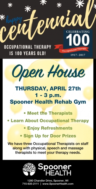 Happy Centennial Occupational Therapy is 100 years old!