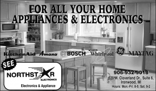 For all your home appliances & electronics