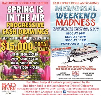 Spring is in The Air Progressive Cash Drawings $15,000 total giveaway