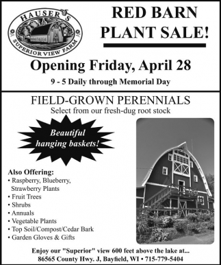 Red Barn Plant Sale!