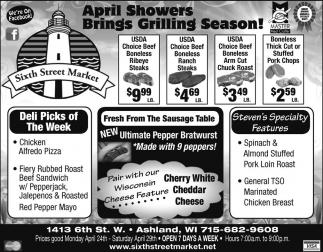 April Showers Brings Grilling Season!