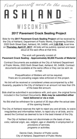 2017 Pavement Crack Sealing Project