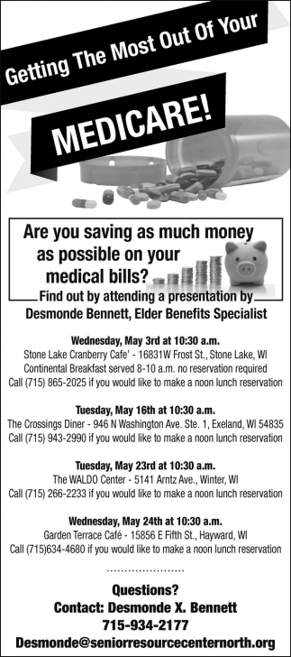 Getting The Most Out of Your Medicare!