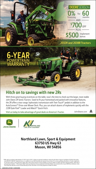 2032R and 2038R Tractors