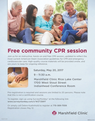 Free community CPR session