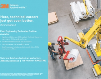 Plant Engineering Technician Position