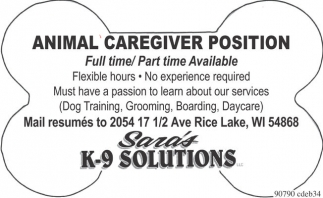Animal Caregiver Position