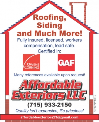 Roofing, Siding and Much More!