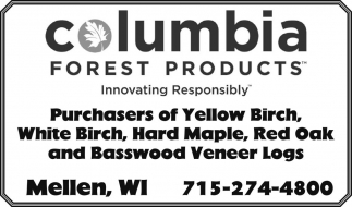 Purchasers of Yellow Birch, White Birch, Hard Maple, Red Oak and Basswood Veneer Logs