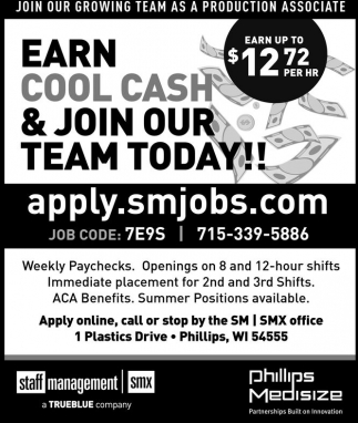 Earn Cool Cash & Join Our Team Today!