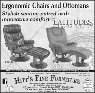 Ergonomic Chairs and Ottomans