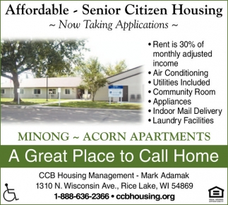 CCB Housing Management Affordable Senior Citizen Housing Services Ads Fro