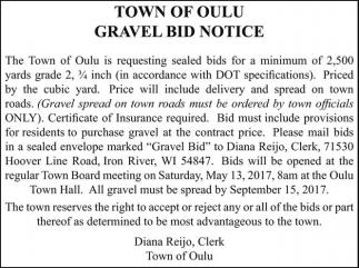 Gravel Bid Notice