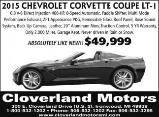 2015 Chevrolet Corvette Coupe LT-I