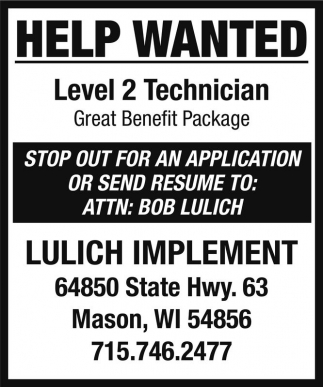 Level 2 Technician