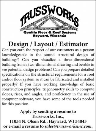 Design, Layout, Estimator