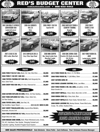 Every Vehicle $9,995 & Less