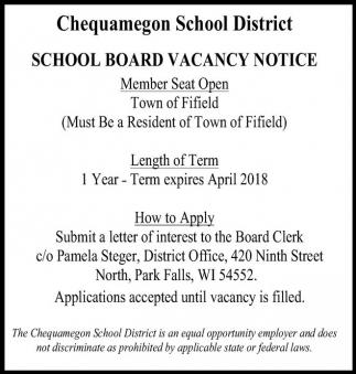 School Board Vacancy Notice