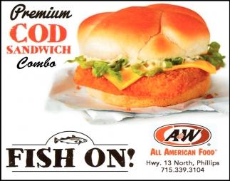 Premium Cod Sandwich Combo