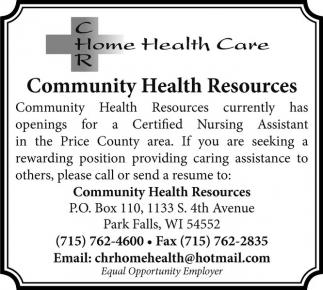Community Health Resources