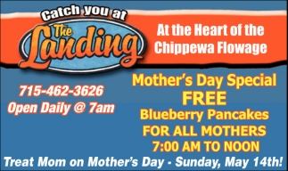 Mother's Day Special FREE Bluberry Pancakes FOR ALL MOTHERS