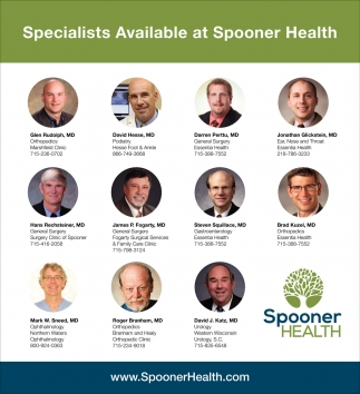 Specialist Available at Spooner Health