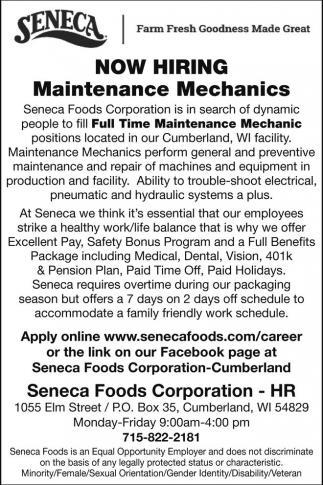 Maintenance Mechanics