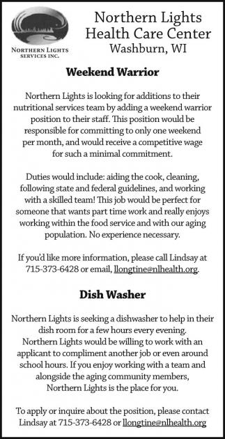 Weekend Warrior - Dish Washer