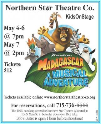 Madagascar, a Musical Adventure