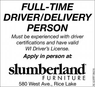 Driver/Delivery Person